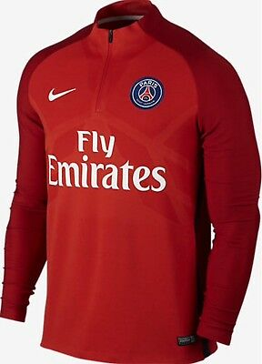 Nike Paris Saint-Germain 17/18 Aeroswift Strike Football Drill Top 858309-676