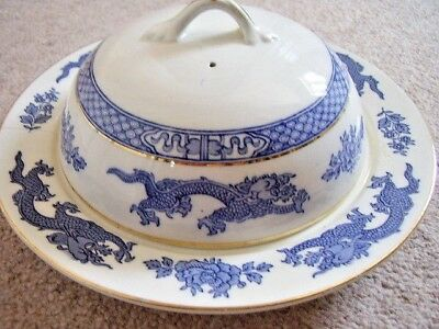 George Jones and sons Crescent,Dragon England porcelain dish with cover