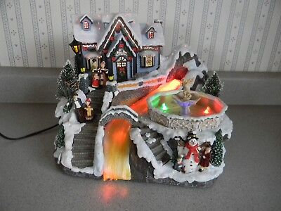 Avon Fiber Optic Fountain Christmas Theme Topwell Musical Battery Or AC Adapter
