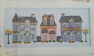 'winter Street Snowy Houses' Cross Stitch Chart By Shannon Wasilieff (Xd3)