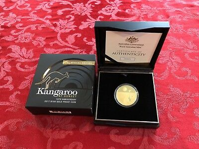 2017 Kangaroo at Sunset by the Royal Australian Mint, 1 Oz Gold - Proof.
