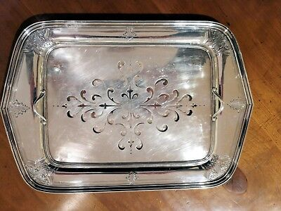 Sterling Silver Asparagus Tray with Sterling Pierced Liner by W.B.Durgin Co