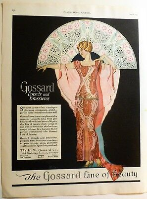 Wonderful 1924 Coles Phillips Avertising - Gossards Corsets and Brassieres
