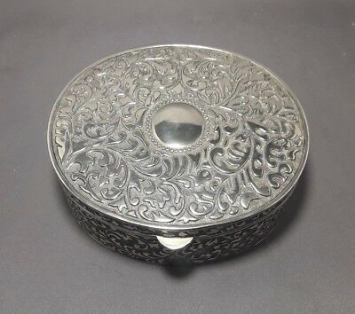 Large Silver Plated Trinket/Jewellery Box