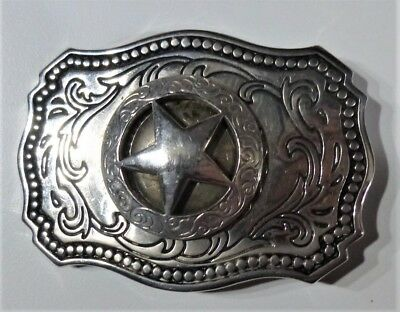 Belt Buckle - Texas star concho - Made in USA