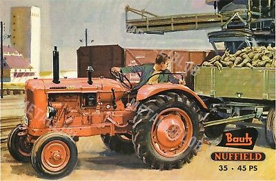Nuffield 35 . 45  Tractor - Poster (A3)