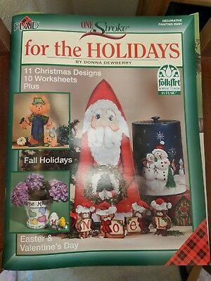 Plaid FolkArt One Stroke for the Holidays Christmas Kit Donna Dewberry NoBrushes