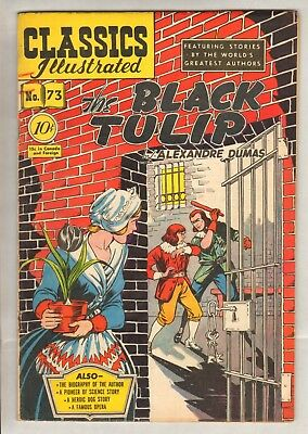 Classics Illustrated #73 (Orig) HRN 75 (FN/VF) (1950, Gilberton) Black Orchid