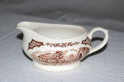 Alfred Meakin FAIR WINDS Brown England Gravy Boat and Under Plate