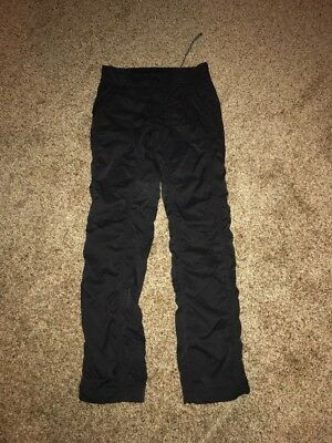 The North Face Womens Size 0 Hiking Camping Outdoor Pants Lined BLACK EUC