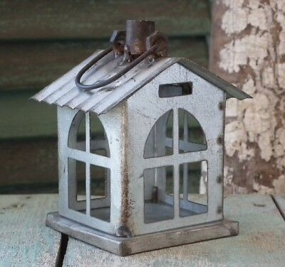 ~LA DEMEURE~ Galvanized Tin ~HOUSE ORNAMENT~ Aged & Distressed ~ NWT!