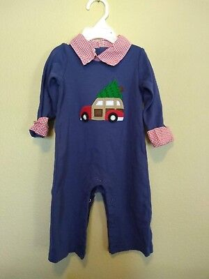 Mudpie 6-9 Month Bodysuit One-Piece Christmas Truck Tree Holiday