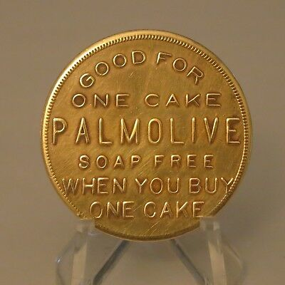 """Antique Palmolive Soap Brass """"Buy One Get One Free"""" Token - Palmolive-Peet Co."""