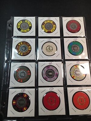 Vintage Casino Chip Lot Of 12 - Puerto Rico Palm Hotel