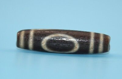 47*12 mm Antique Dzi Agate old 1 eyes Bead from Tibet **Free shipping**