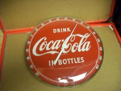 """Drink Coca Cola """"in Bottles"""" Thermometer 1940's"""