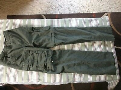 BSA Boy Scouts of America Uniform Olive Green Cargo Convertible Pants Relaxed 26