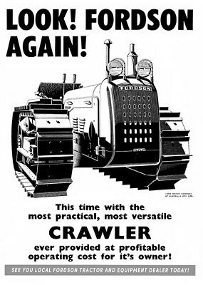 Fordson Major Tractor Crawler - Poster (A3)