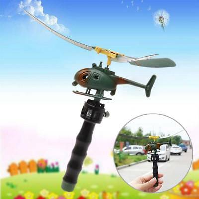 Pull String Handle Educational Helicopter Fun Outdoor Toys Children Xmas Gift