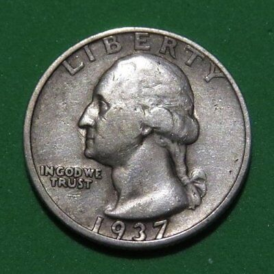 1937-S Washington Quarter VF Cond. Better Date San Francisco Minted Silver Coin.