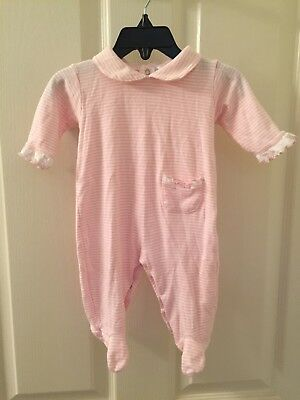 Kissy Kissy Pink and White Striped Footie One Piece Size 3-6 Months