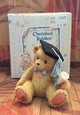 Cherished Teddies Boy Graduation #127949 - The Best Is Yet To Come - Brand New
