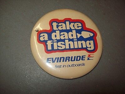 Scarce Early 1960's Large Evinrude Outboard Motor Advertising Pin Back