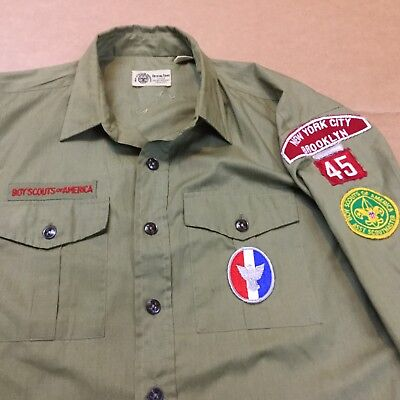 Boy Scout Uniform Shirt Early 1970's Eagle Scout New York City Brooklyn 45
