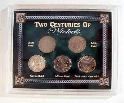 *two Centuries Of Nickels Collection - 5 Coins