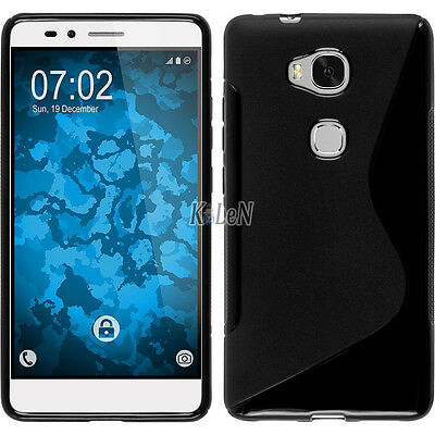 Black Soft S Line Gel TPU Silicone Case Cover Skin For Huawei Honor 5X / X5/ GR5
