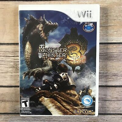 Monster Hunter 3 Tri Nintendo Wii 2010 Video Game Complete Booklet Instructions