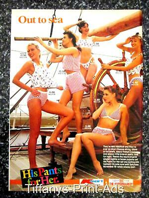 UNDERWEAR  Womens AD  1 pg  LEGGY Model Lingerie Panties Catalog Ad Photo 1980s