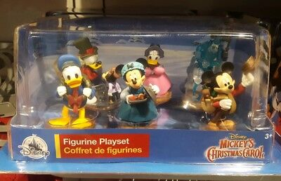 Disney 6 piece Set Mickey Mouse A Christmas Carol's New in Box holiday Figurines