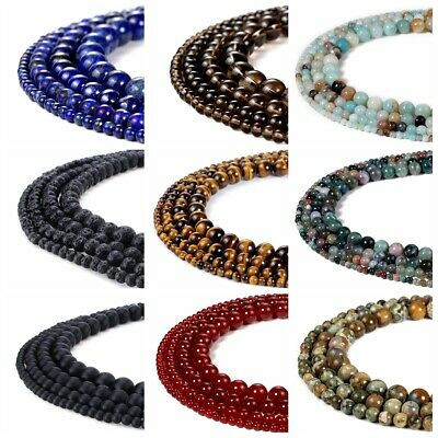 Bulk Gemstones Natural Spacer Stone Loose Beads 4mm 6mm 8mm 10mm Jewelry Design