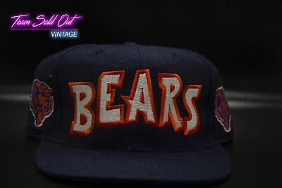 9e4677ec5 NEW VINTAGE 90S Chicago Bears BlockHead ANNCO Wool Snapback Hat NFL