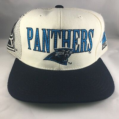 3eeffbb9ca4 New Vintage 90s Carolina Panthers Laser Sports Specialties Snapback Hat NFL