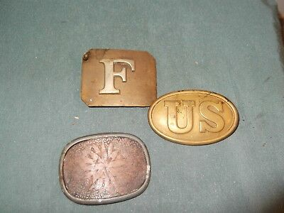 CIVIL WAR US ARMY US BELT BUCKLES- Reproduction Plus F and Other