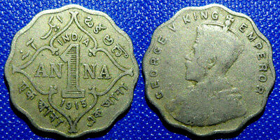 1 anna 1913 British India Coin Low Shipping! Combine FREE!