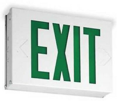 Lithonia Lighting LXW3G Steel LED Exit Sign, Single Face, 120/277 V AC, Green