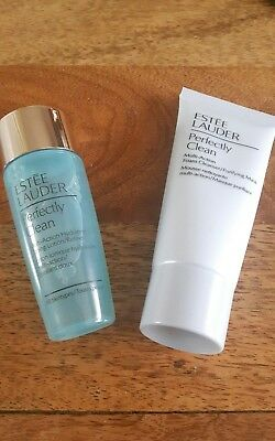 Estee Lauder Perfectly Clean Cleanser 30ml & Toner Lotion/Refiner 30ml  Set  New