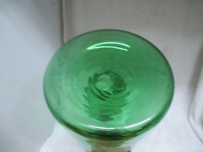 1970's VINTAGE DEMIJOHN GREEN GLASS WINE CHILLER BOTTLE ITALY
