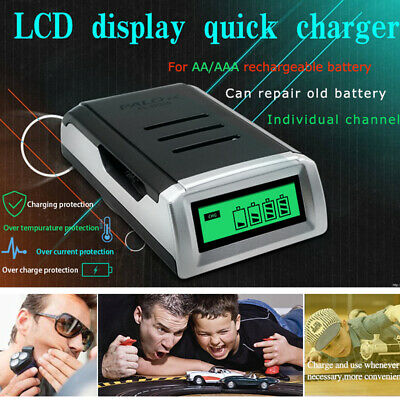 12V Smart Battery Charger Automobile Motorcycle LCD Display Charger With UK Plug