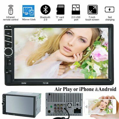 "Double 2 Din 7"" Car FM MP5 MP3 Player Touch Screen Stereo Radio Bluetooth USB"