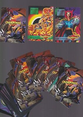 cards OVER POWER CARD GAME overpower MARVEL 1995 carte gioco