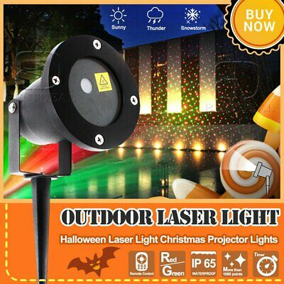 R&G Laser Fairy Light Projection Projector Christmas Outdoor Landscape LED Lamp~