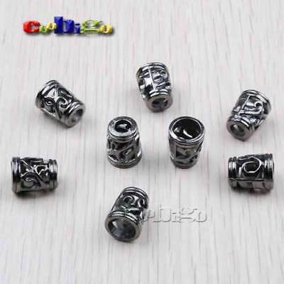 Cord Ends Rope Lock Bell Stopper Hollow Out Toggle Clip Paracord Bracelet Parts