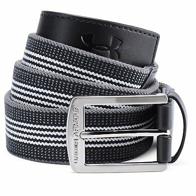 2018 Under Armour Striped Performance Stretch Belt Men 1306537 Multiple Size