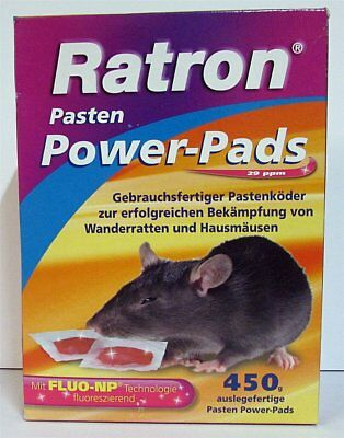 Ratron Pasten Power-Pads 450 g (30 x 15 g) Rattenmittel Rattengift