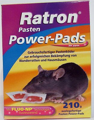 Ratron Pasten Power-Pads 210 g (14 x 15 g) Rattenmittel Rattengift