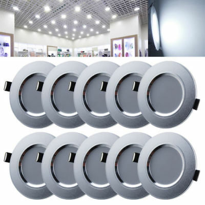 10x 7W LED Recessed Ceiling Light Lamp Downlight Round Spotlight Day Warm White